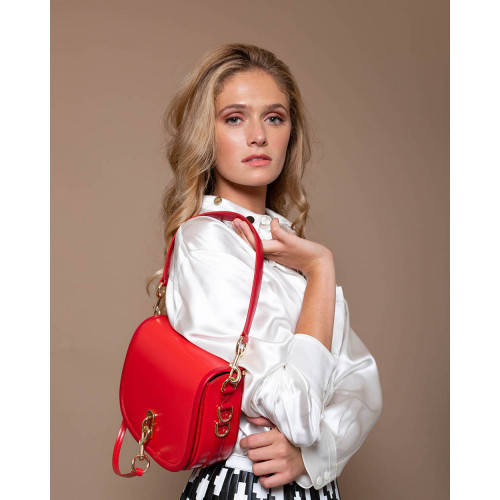 Achat The Saddle - Leather bag round shape large flap - Jacques-loup