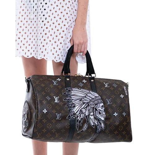 Achat Indian - Customized bag with python leather details 45 cm - Jacques-loup