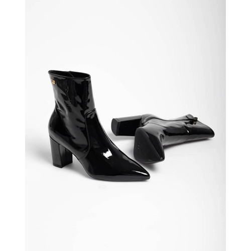 Achat Linaria - Patent leather low boots with zip 75 - Jacques-loup