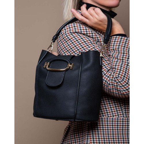 Achat T-Ring - Leather bucket bag with metal buckle - Jacques-loup