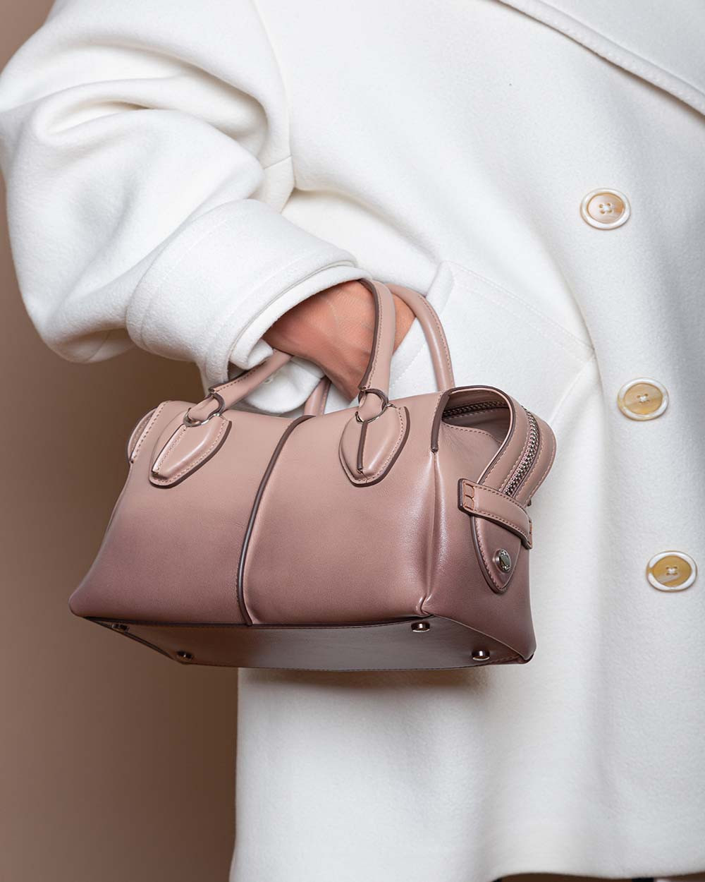 D-Styling Mini - Leather bag with 2 handles