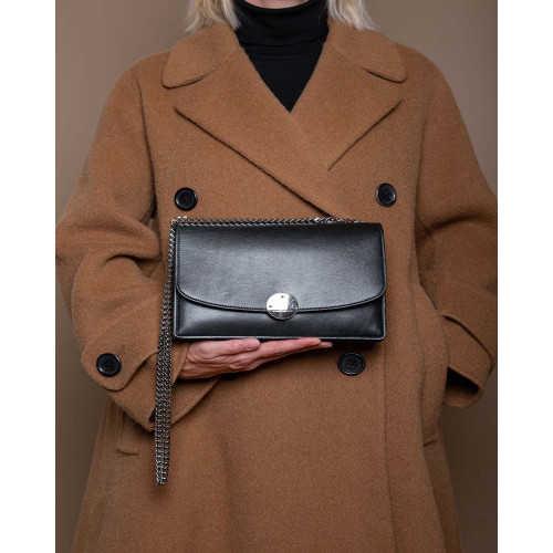 Achat Trouble - Leather bag with round magnet closing - Jacques-loup