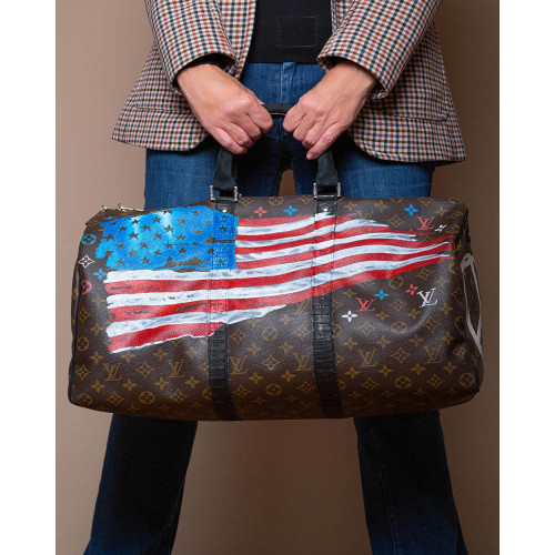 Achat US FLAG + Don't tread on me - Sac customizé 50 cm - Jacques-loup